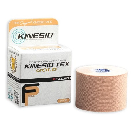 Taśma kinezjologiczna Kinesio Tex Gold FP 5cm x 5m beżowy