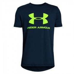 Koszulka UA Sportsyle Logo Boys SS 1330893 408