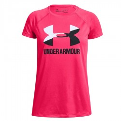 Koszulka UA Big Logo Tee Solid Girls SS 1331678 975