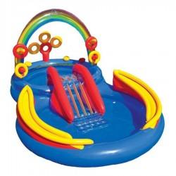 Zabawka Plac zabaw ze slizgawką Tęcza duża 297x193x135 cm 57453