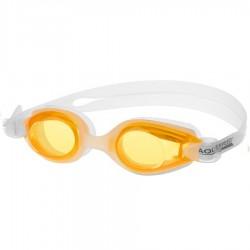 Okulary pływackie Ariadna biały/pomarańczowe