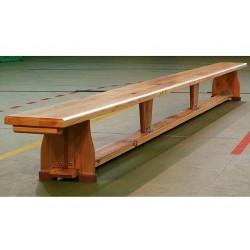 Ławka gimnastyczna 2,0  m drewniane nogi