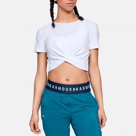 Koszulka UA Lightweight Lux Crop Tee 1305484 100