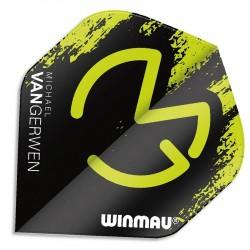 Część zamienna Winmau piórka MVG czarno-zielone
