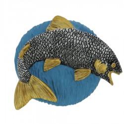 Emblemat płaskorzeźba wędkarstwo ryba NR42 Polcups