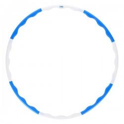 HHP090 BLUE-WHITE HULA HOP 0,4KG 90CM ONE FITNESS
