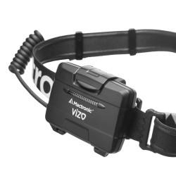 Latarka czołowa, Mactronic VIZO, 400 lm,  bateryjna (3x AA), zestaw (kabel przedłużający, baterie), pudełko