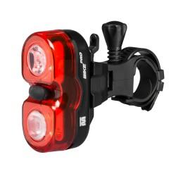 Lampa rowerowa tylna, Mactronic WALL'E, 18 lm, bateryjna (2x AAA), zestaw (uchwyt), blister