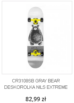 CR3108SB GRAY BEAR DESKOROLKA NILS EXTREME